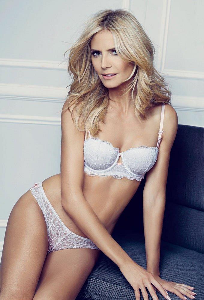 Хайди Клум в рекламе собственной линии нижнего белья Heidi Klum Intimates фото №11