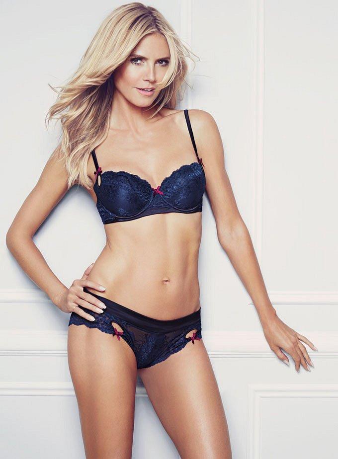 Хайди Клум в рекламе собственной линии нижнего белья Heidi Klum Intimates фото №12