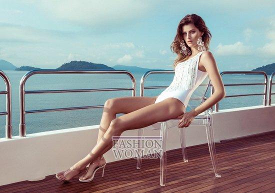 Изабели Фонтана в рекламной кампании пляжной коллекции Morena Rosa фото №1