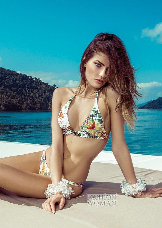 Изабели Фонтана в рекламной кампании пляжной коллекции Morena Rosa фото №3