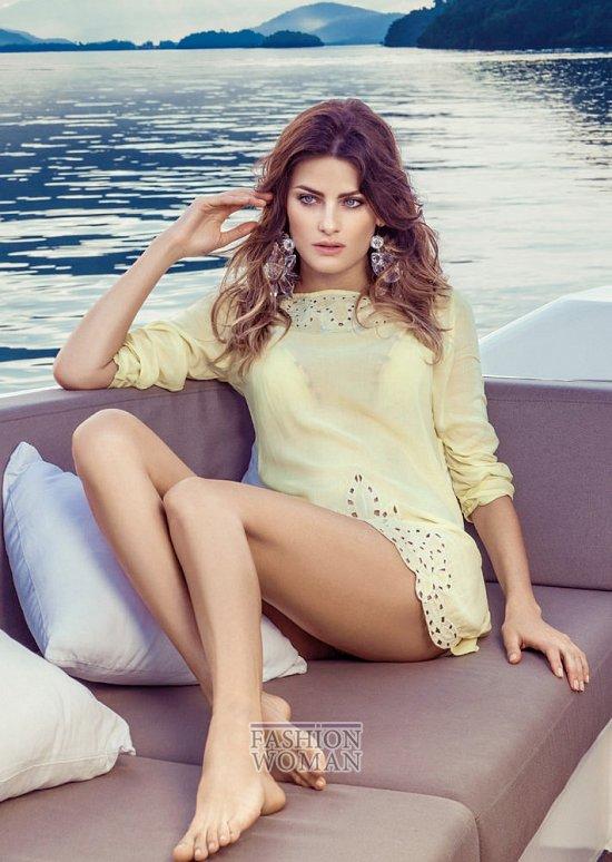Изабели Фонтана в рекламной кампании пляжной коллекции Morena Rosa фото №9