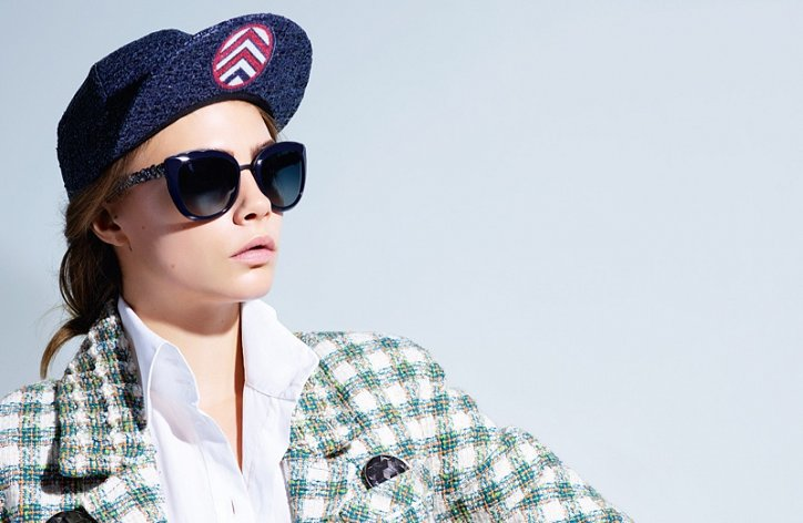 Кара Делевинь в рекламе Chanel Eyewear весна-лето 2016 фото №2