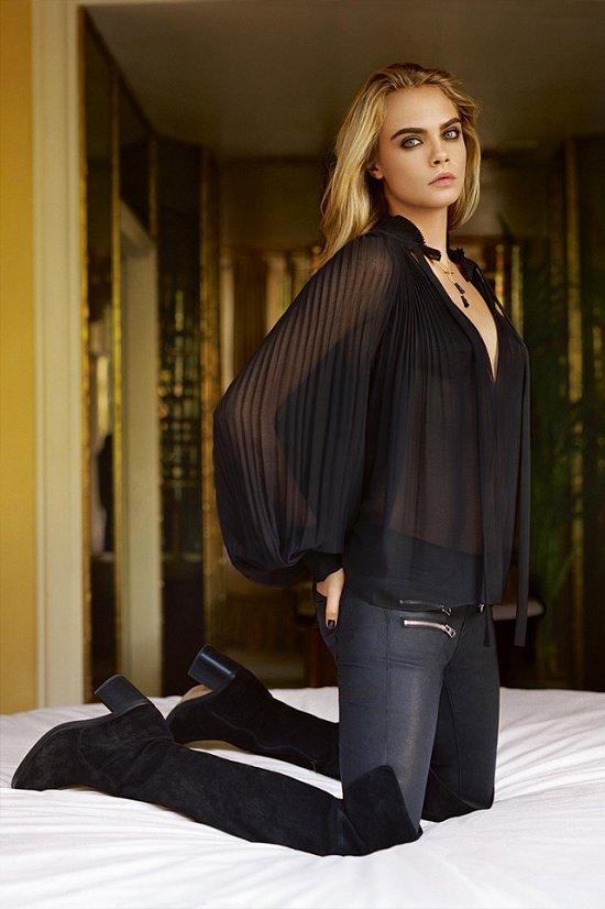 Кара Делевинь в рекламной кампании TopShop фото №11