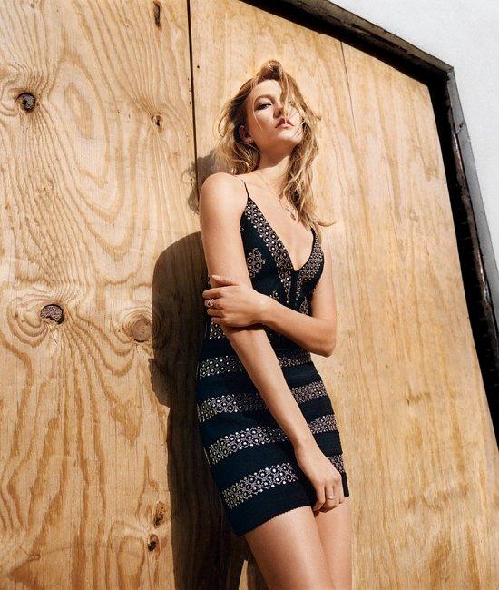 Карли Клосс в лукбуке Topshop весна-лето 2016 фото №5