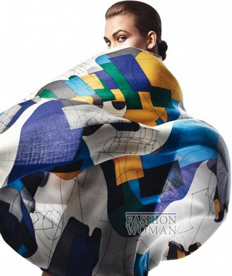Карли Клосс в рекламной кампании платков Hermès фото №1