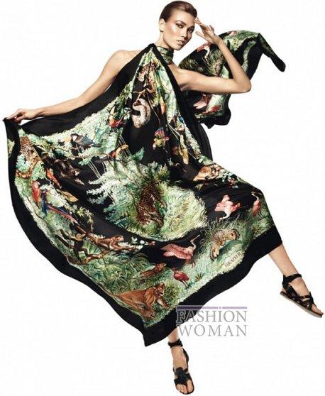 Карли Клосс в рекламной кампании платков Hermès фото №13