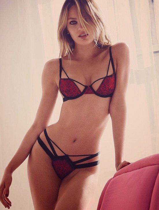 Кэндис Свейнпол в лукбуке Victoria's Secret Valentine's Day 2015