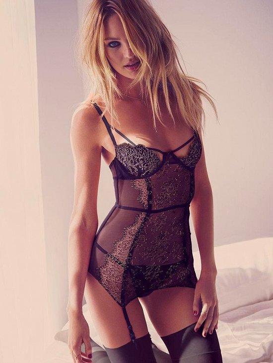 Кэндис Свейнпол в лукбуке Victoria's Secret Valentine's Day 2015 фото №7