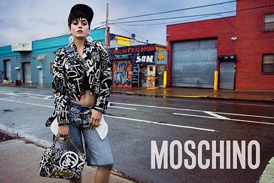 Кэти Перри в рекламной кампании Moschino осень-зима 2015-2016 фото №5