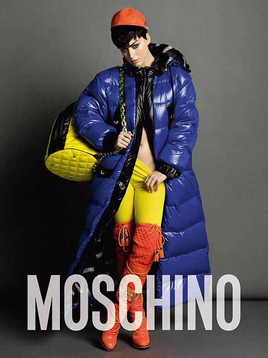 Кэти Перри в рекламной кампании Moschino осень-зима 2015-2016