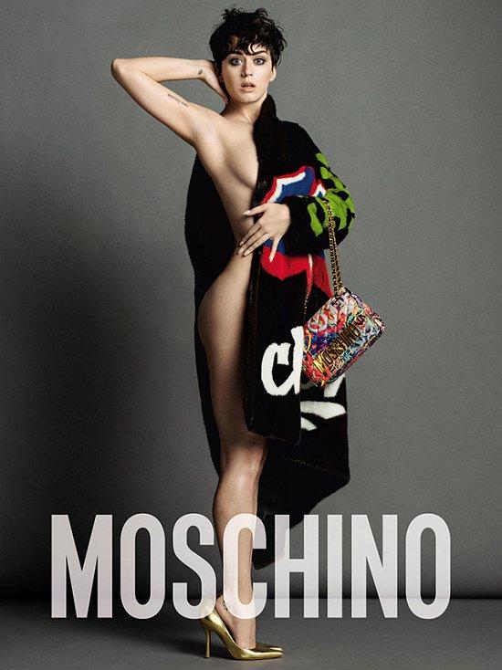 Кэти Перри в рекламной кампании Moschino осень-зима 2015-2016 фото №3