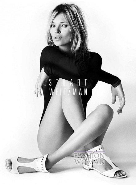 Кейт Мосс в рекламе Stuart Weitzman фото №2