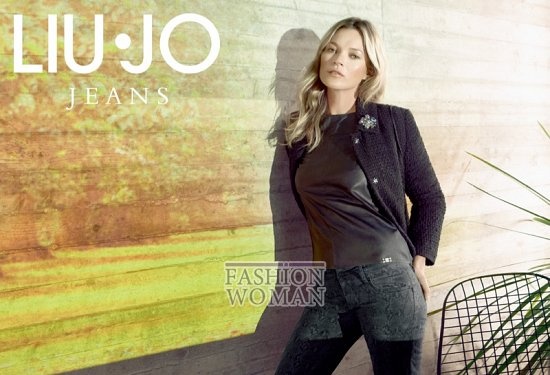 Кейт Мосс в рекламной кампании Liu Jo осень 2013 фото №11