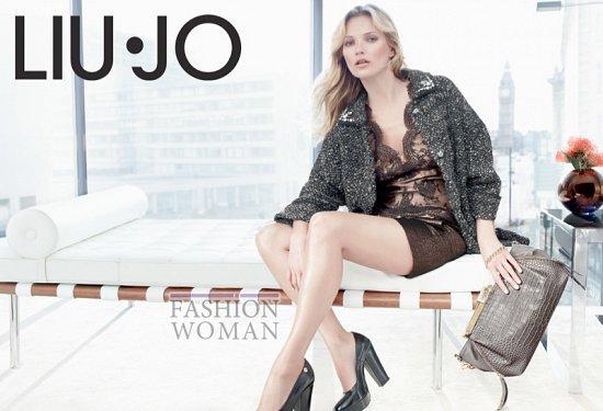 Кейт Мосс в рекламной кампании Liu Jo осень 2013 фото №4