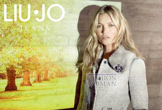 Кейт Мосс в рекламной кампании Liu Jo осень 2013 фото №10