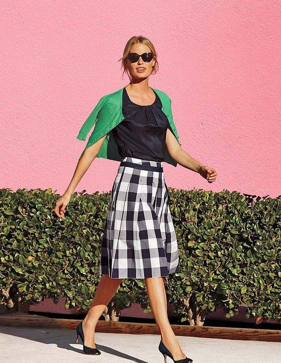 Клетка «виши» - модный тренд сезона фото №33
