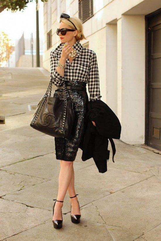 Клетка «виши» - модный тренд сезона фото №34