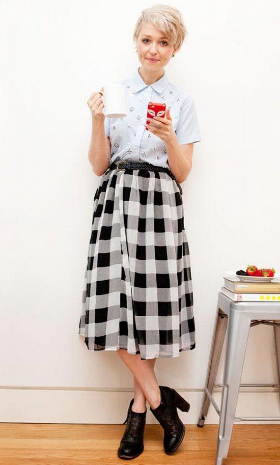 Клетка «виши» - модный тренд сезона фото №42