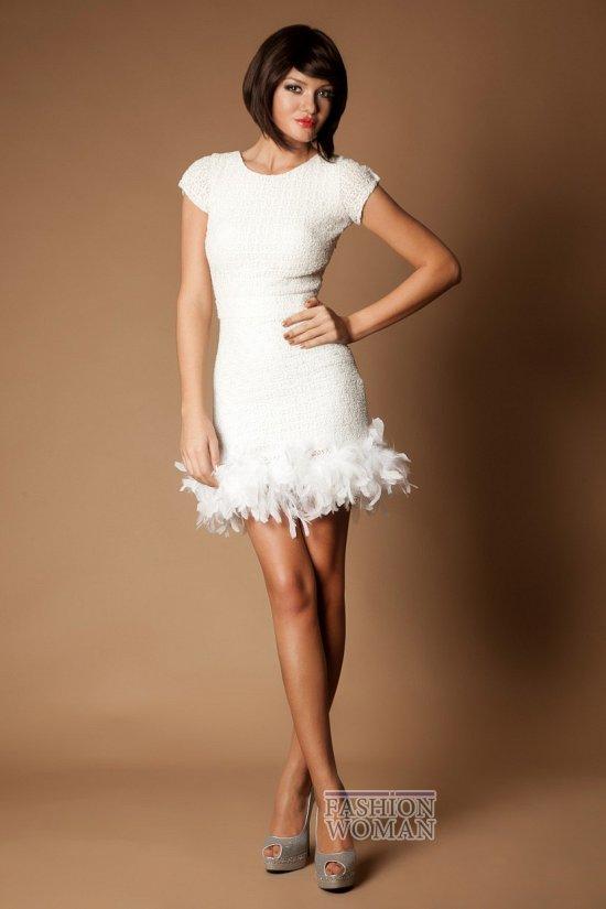 белое коктейльное платье