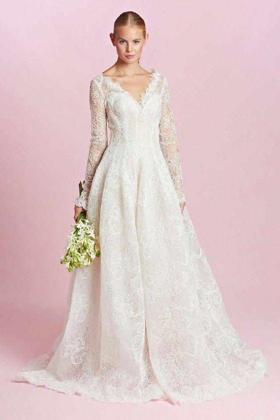 Коллекция свадебных платьев Oscar de la Renta осень-зима 2015-2016 фото №5