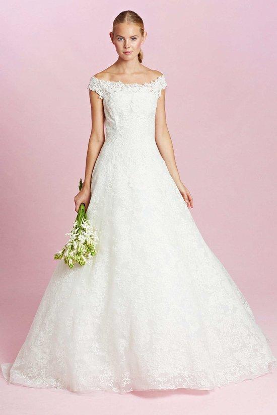 Коллекция свадебных платьев Oscar de la Renta осень-зима 2015-2016 фото №11