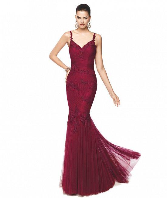 Коллекция вечерних платьев Pronovias 2015 фото №39