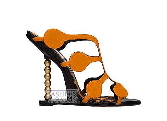 Коллекция женской обуви Manolo Blahnik весна-лето 2012 фото №22