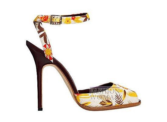 Коллекция женской обуви Manolo Blahnik весна-лето 2012 фото №26