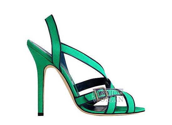 Коллекция женской обуви Manolo Blahnik весна-лето 2012 фото №35