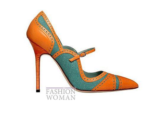 Коллекция женской обуви Manolo Blahnik весна-лето 2012 фото №39
