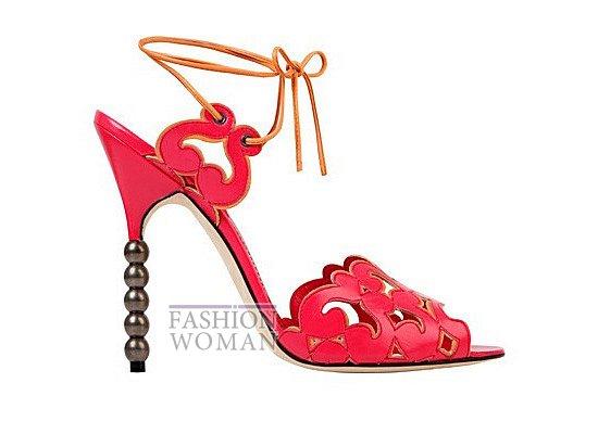 Коллекция женской обуви Manolo Blahnik весна-лето 2012 фото №40