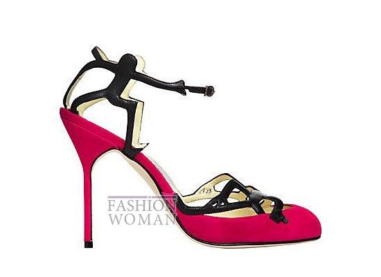 Коллекция женской обуви Manolo Blahnik весна-лето 2012 фото №9