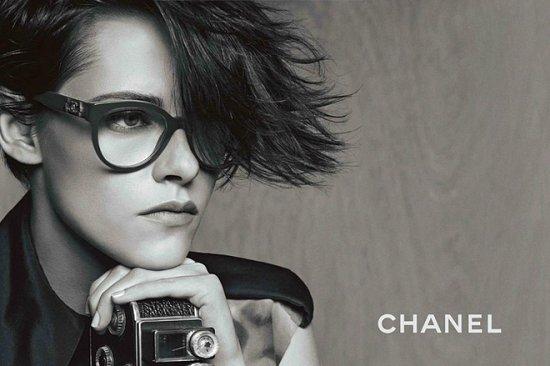 Кристен Стюарт в рекламе очков Chanel весна-лето 2015 фото №7