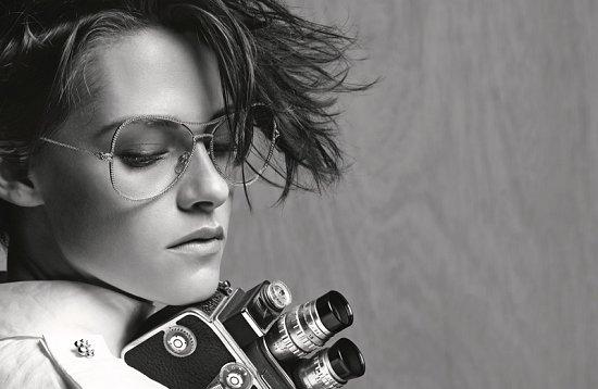 Кристен Стюарт в рекламе очков Chanel весна-лето 2015 фото №4