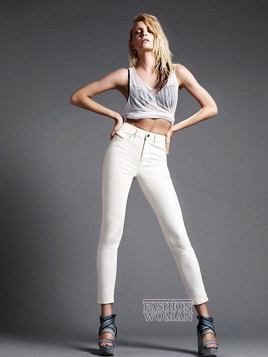 белые джинсы Diesel