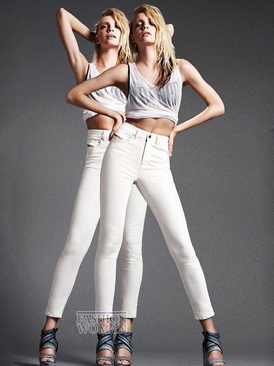 узкие белые джинсы