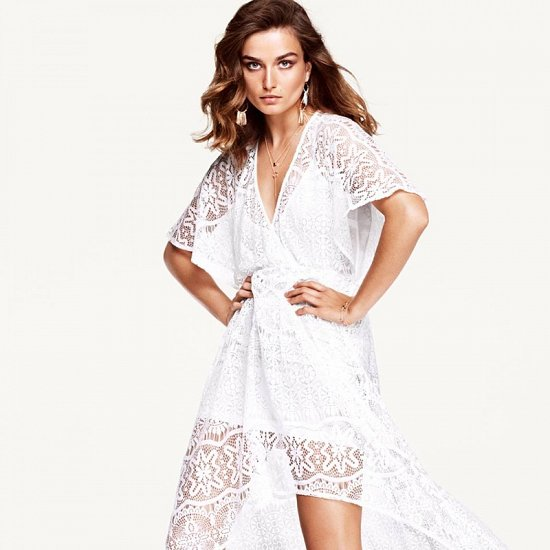 белое платье H&M