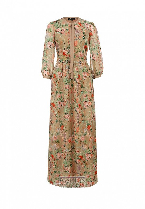 Макси-платье с длинным рукавом