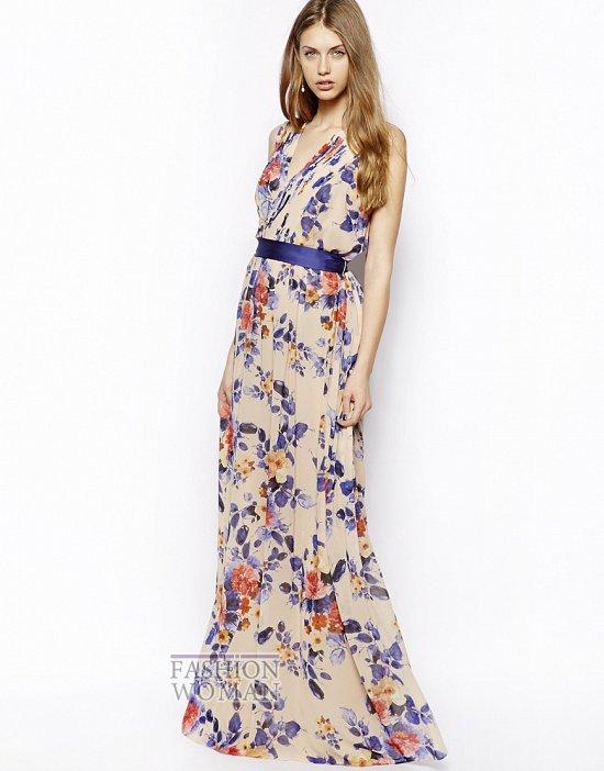 платье в пол на лето