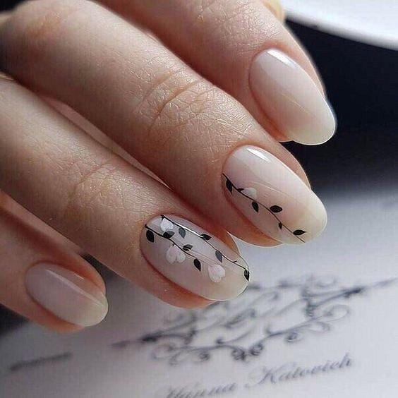 Maniküre mit Blumen: Ideen von Zeichnungen auf Nägeln Foto Nr. 69