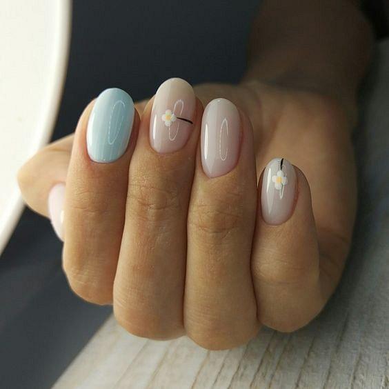 Маникюрс цветами: идеи рисунков на ногтях фото №72