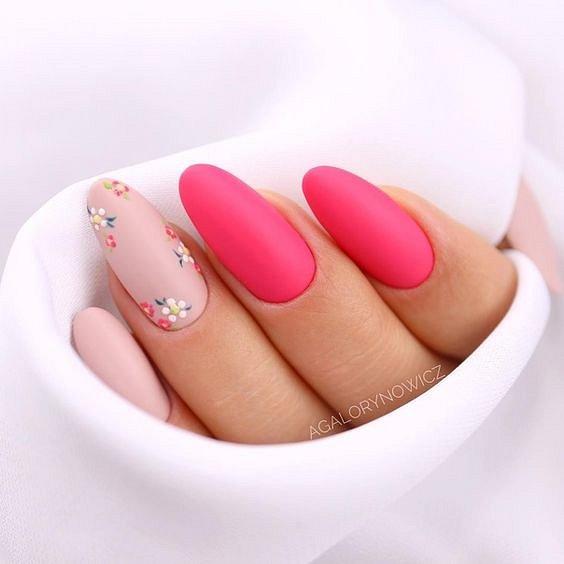 Маникюрс цветами: идеи рисунков на ногтях фото №96