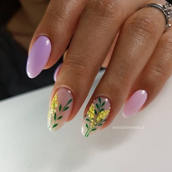 Маникюрс цветами: идеи рисунков на ногтях фото №97