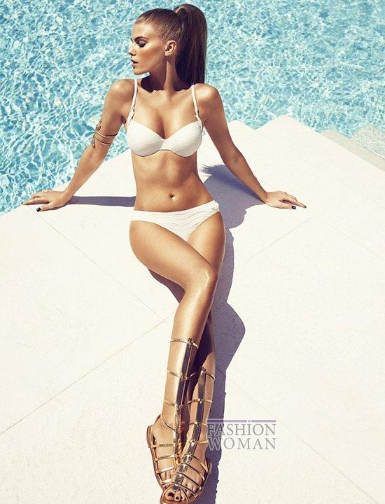 Марина Линчук в рекламе купальников Chantelle весна-лето 2014 фото №9