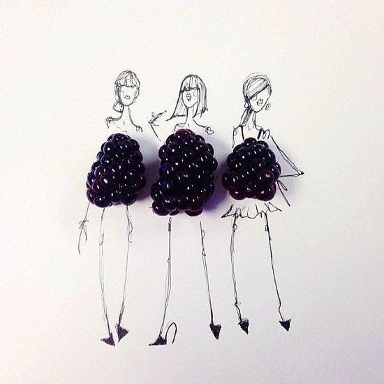 Мода и еда в иллюстрациях Гретхен Рёхрс фото №3