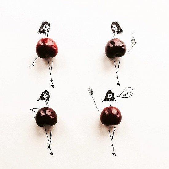 Мода и еда в иллюстрациях Гретхен Рёхрс фото №10