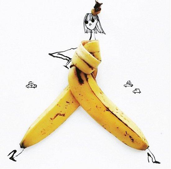 Мода и еда в иллюстрациях Гретхен Рёхрс фото №9