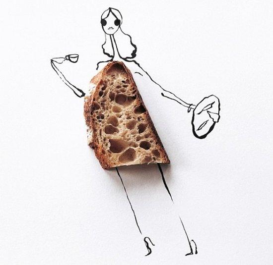 Мода и еда в иллюстрациях Гретхен Рёхрс фото №7