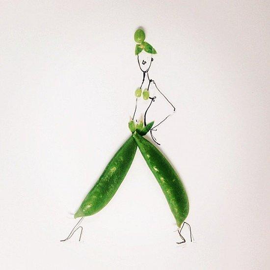 Мода и еда в иллюстрациях Гретхен Рёхрс фото №6