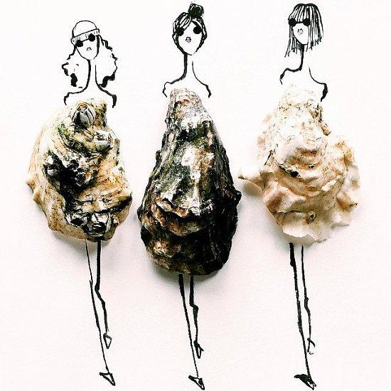 Мода и еда в иллюстрациях Гретхен Рёхрс фото №8
